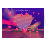 Hover Hearts (photo frame) Greeting Card