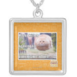Hover kitteh square pendant necklace