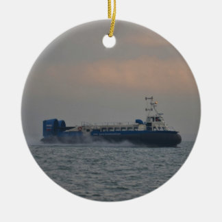 Hovercraft At Dawn Ceramic Ornament