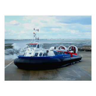 Hovercraft at Ryde Poster