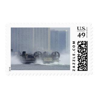 Hovercraft Ship Postage Stamps