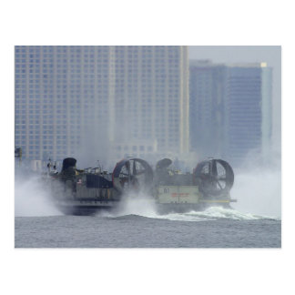 Hovercraft Ship Post Card
