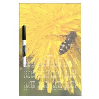 Hoverflies on Dandelions; 2013 Calendar Dry Erase Whiteboards