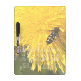 Hoverflies on Dandelions; 2013 Calendar Dry-Erase Whiteboard