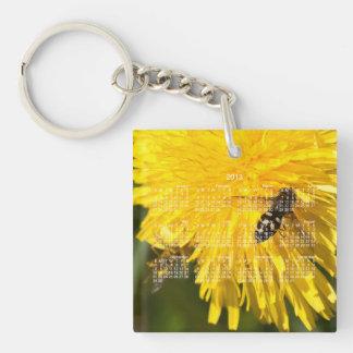 Hoverflies on Dandelions; 2013 Calendar Keychain