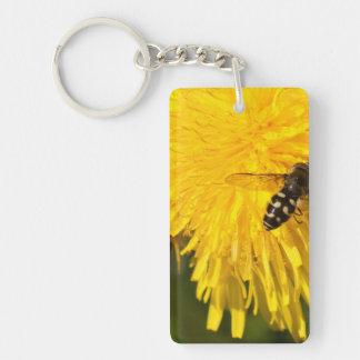 Hoverflies on Dandelions Acrylic Key Chains