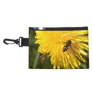 Hoverflies on Dandelions; Customizable Accessory Bag
