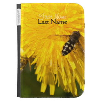 Hoverflies on Dandelions; Customizable Cases For The Kindle
