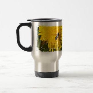 Hoverflies on Dandelions; Customizable Coffee Mugs