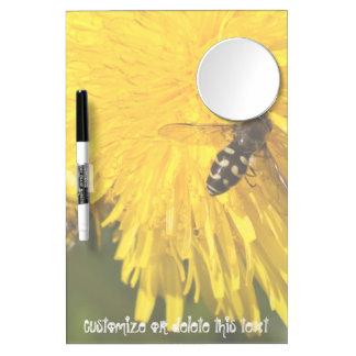 Hoverflies on Dandelions; Customizable Dry Erase Board