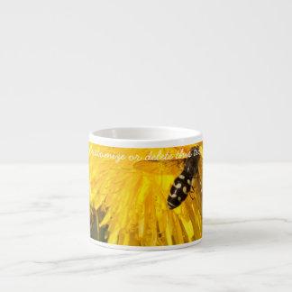 Hoverflies on Dandelions; Customizable Espresso Cup