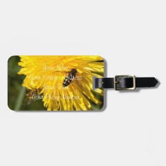 Hoverflies on Dandelions; Customizable Luggage Tags