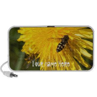 Hoverflies on Dandelions; Customizable Notebook Speaker