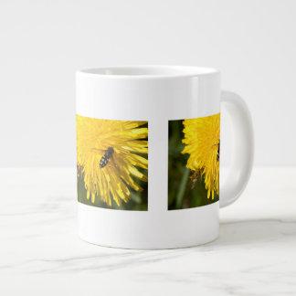 Hoverflies on Dandelions Giant Coffee Mug