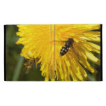 Hoverflies on Dandelions iPad Case