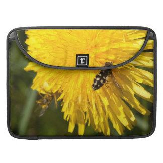 Hoverflies on Dandelions MacBook Pro Sleeves