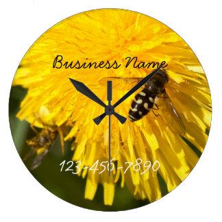 Hoverflies on Dandelions; Promotional Clock