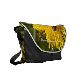 Hoverflies on Dandelions; Promotional Courier Bag