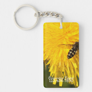 Hoverflies on Dandelions; Promotional Acrylic Keychains