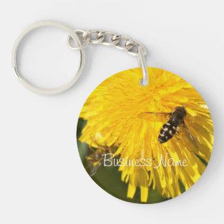 Hoverflies on Dandelions; Promotional Acrylic Keychain