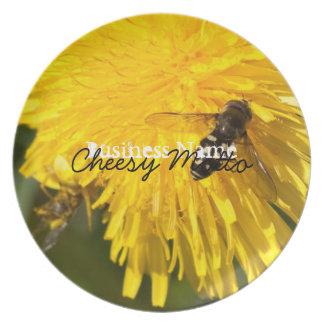 Hoverflies on Dandelions; Promotional Melamine Plate