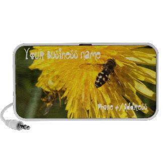 Hoverflies on Dandelions; Promotional Notebook Speakers