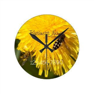Hoverflies on Dandelions; Promotional Wallclock
