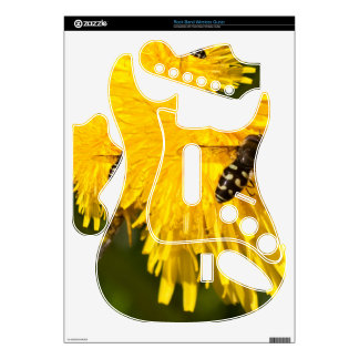 Hoverflies on Dandelions Rock Band Guitar Skins