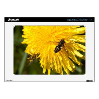 Hoverflies on Dandelions Samsung Chromebook Decal