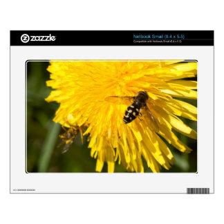 Hoverflies on Dandelions Decal For Netbook