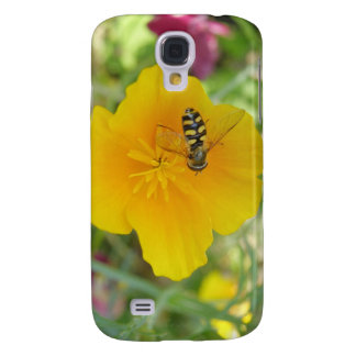 Hoverfly and Californian Poppy  Galaxy S4 Case