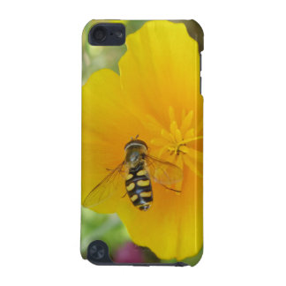 Hoverfly and Californian Poppy iPod Case