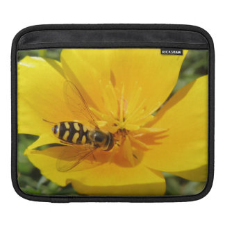 Hoverfly and Flower IPad Sleeve