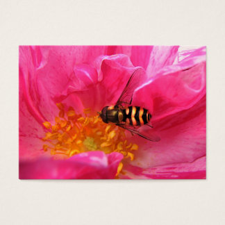 Hoverfly and Rosa Mundi ATC Business Card