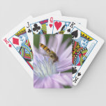 Hoverfly on chicory more flower bicycle playing cards
