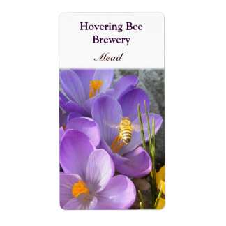 Hovering Bee ~ Mead Wine Label