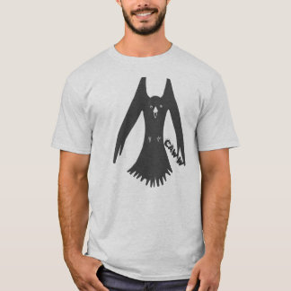 Hovering Cawing Crow t shirt