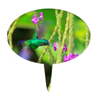 Hovering Hummingbird Blur Cake Topper