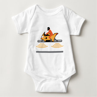 Hovering Motorcycle Baby Bodysuit