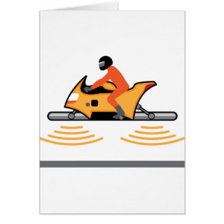 Hovering Motorcycle Card