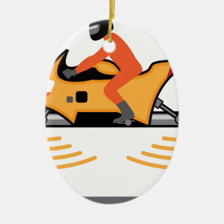 Hovering Motorcycle Ceramic Ornament