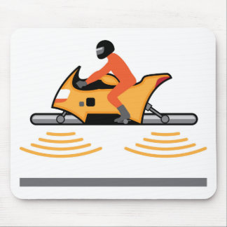 Hovering Motorcycle Mouse Pad