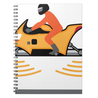 Hovering Motorcycle Spiral Notebook