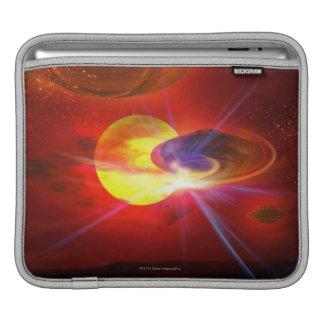 Hovering UFOs iPad Sleeve