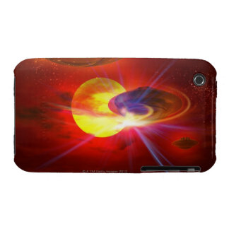 Hovering UFOs iPhone 3 Case-Mate Cases