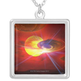 Hovering UFOs Necklace