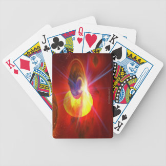 Hovering UFOs Playing Cards