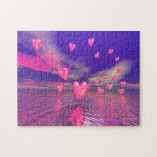 Hovering Valentine Hearts Puzzle