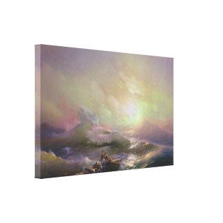 Hovhannes Aivazovsky - The Ninth Wave (Modified) Canvas Print