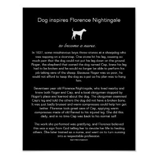 How a Dog Inspired Nightingale to Become a Nurse Poster